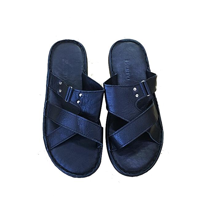 Sandales Homme Noir Forme Cuir Pour Orthopédique kOw8n0P
