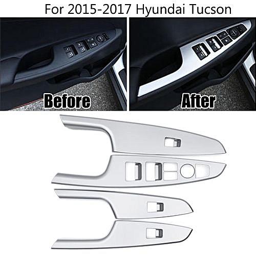 Exterior Car Side Door Handle Bowl Cover Trim For Hyundai Tucson 2016 2017 ABS Chrome 4PCS//SET