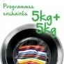 Soin du linge Programmes enchaînés 5+5kg