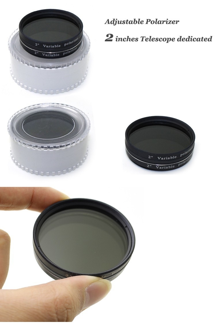 Increasing Contrast 2 Inch Variable Polarizing Filter No3 for Telescopes /& Eyepiece Progressively Dim The View Reducing Glare and Increasing Detail