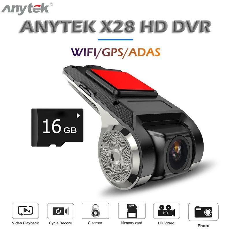 150° 1080P Full HD Car DVR Camera Video Recorder WiFi GPS ADAS G-sensor Dash Cam