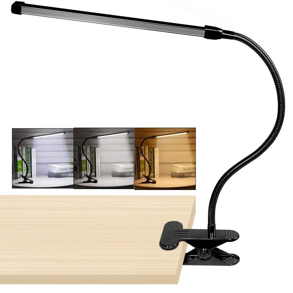 Generic 8 W Clip Led Sur Lampe De Bureau Avec 3 Modes 2 M Cable