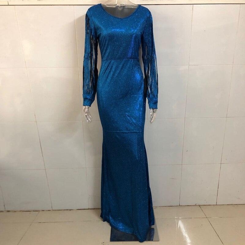 Generic En Gros Pas Cher Longue Soiree Robes Femmes De Haute Qualite Gland Sequin Cristal De Luxe Strass Grande Taille Robe Elegante Xl Blue Prix Pas Cher Jumia Sn