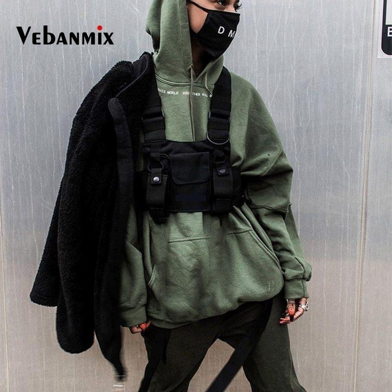 Yalatan Sac de Poitrine Tactique de pour Les Hommes des Femmes Sacs de Poitrine Tactique r/églables de Fanny Pack Sac de Taille de Streetwear de Hip Hop Sacs de Taille de Streetwear