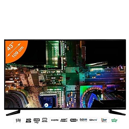 TV Led - 43 Pouces - HDmi/Usb/Vga - Décodeur Intégré - Regulateur De Tension Integré -Noir - Garantie 12 Mois