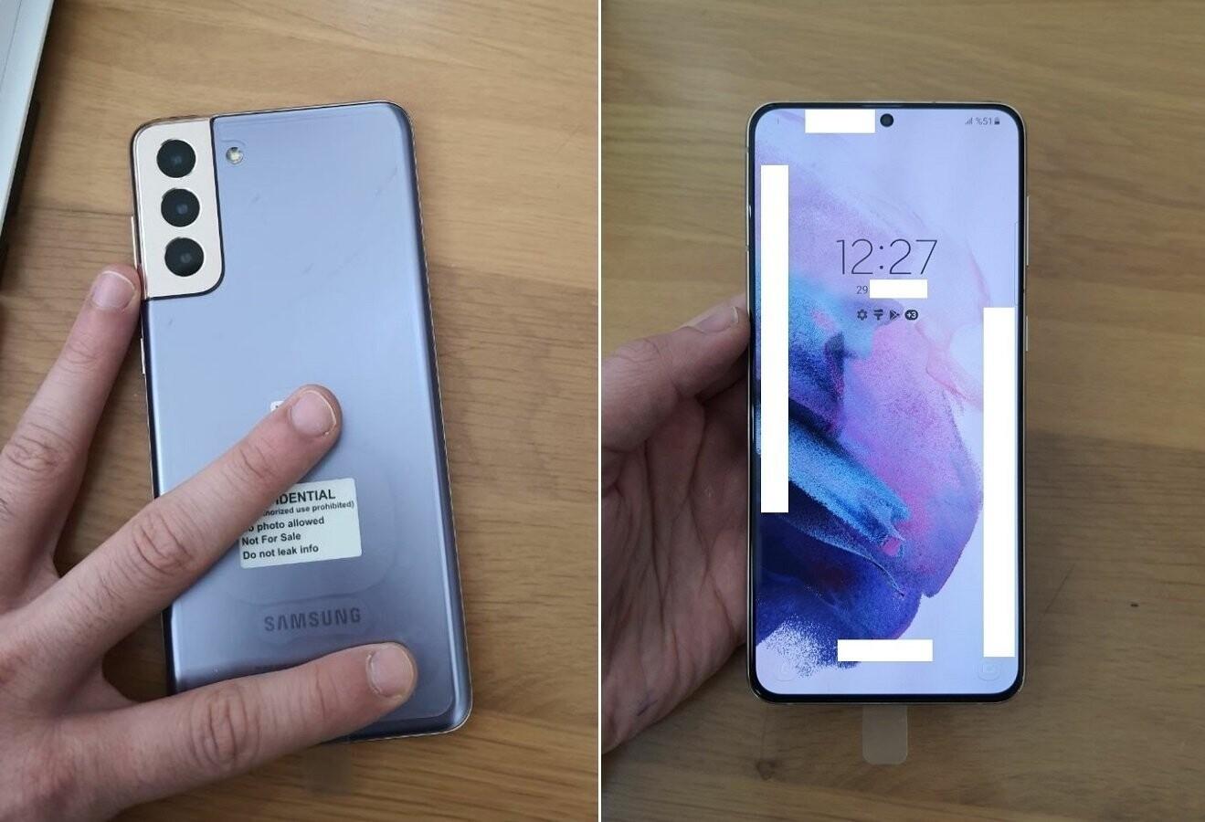 Le Samsung Galaxy S21 Plus a déjà été pris en photo durant une prise en main