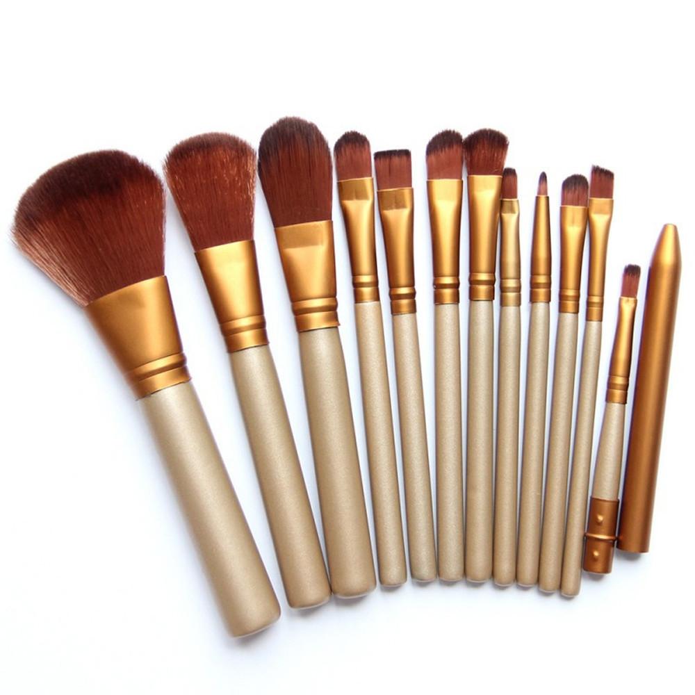Accessoire Salle De Bain Dore ~ white label 12 pinceaux de maquillage beige dor au s n gal prix