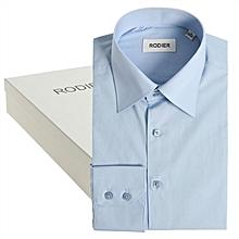 chemises pour homme rodier 100% coton manche longue - bleu