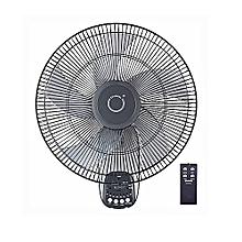 ventilateur mural - 16 pouces - oscillation à 90 degrés - 3 réglages de vitesse - inclinaison réglable + télécommande