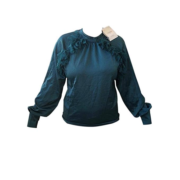 white label top femme coton m233lang233 vert menthe prix