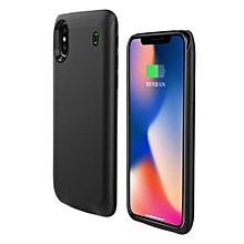 etui chargeur iphone x - 3000 mah  backup power  case - noir