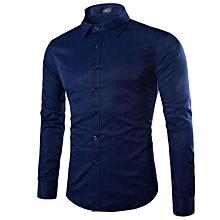 chemise homme slim fit - manche longues - bleu