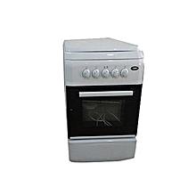 cuisinière à gaz - 4 feux - 50x50 - blanc