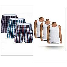 pack de 3 caleçons + 3 sous-vêtements homme