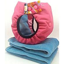 couches lavables taille 2 (4-8kg) couleur rose : 1 culotte rose + 3 inserts coloris divers