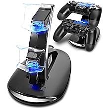 chargeur pour manette ps4 - support pour chargeur de station d'accueil dualshock 4 pour playstation 4 jeux, pour ps4, ps4 slim, manette ps4 pro