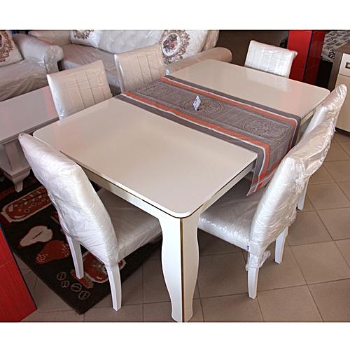table manger 6 chaises zenn dugun paketi en bois beige