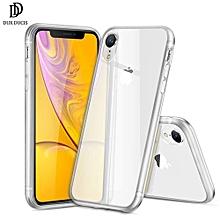 pour iphone xr etui dux ducis clear etui en silicone souple pour iphone anti slip ultra mince couverture de téléphone-bleu