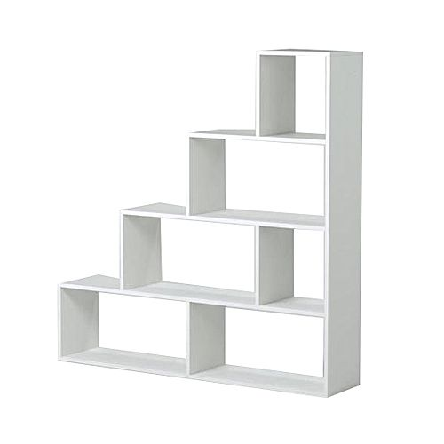 White label klum meuble escalier contemporain m lamin for Meuble melamine blanc