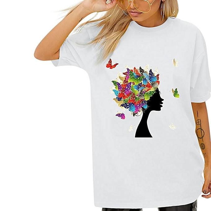 2c22968661f6 T-shirt Cool Fashion Pour Femme - 100% Coton - Design Femme Africaine Avec