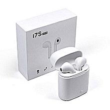 écouteur bluetooth i7s - blanc