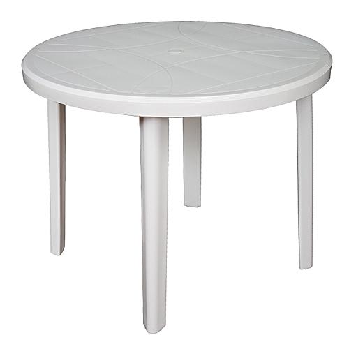 Pro Garden Table Ronde Progarden Plastique - Blanc - Prix pas cher ...