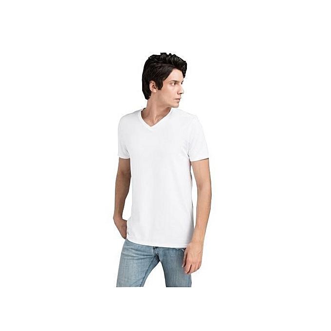 f5590295d3318 White Label Offre spéciale   Pack de 5 Tee-shirt en Coton Homme ...