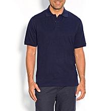 polo manches courtes homme - bleu marine