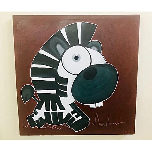 8f13cdc8f3915 Tableau Décoration Chambre d'Enfant - Acrylique Peint à la Main - LE PETIT  ZÈBRE