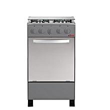 cuisinière à gaz  - 4 feux - 50x50 - inox csi-50ms