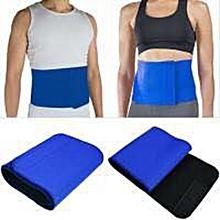 ceinture minceur graisse - gaine brûlante - vntre plat - nylon - bleu