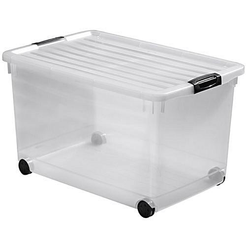 it bo te de rangement 60 litres transparente sur roulettes prix pas cher jumia sn. Black Bedroom Furniture Sets. Home Design Ideas