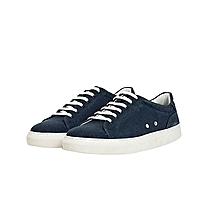 chaussure navy sinope basket basse en coton canvas