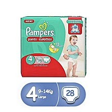 pampers couches-culottes  baby-dry pants taille 4 (9-14kg) - 28  couches