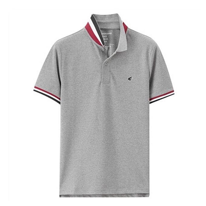 White Label Polo Homme - Manches Courtes - Gris - Prix pas cher ... 49dd948909f