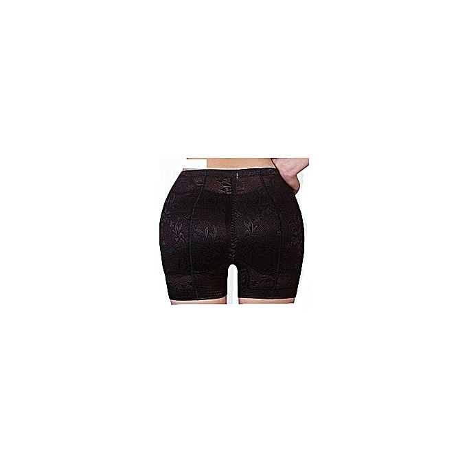 d6300f5a6a89 White Label Culotte Push Up - Fausses Fesses et Hanches - Noir ...