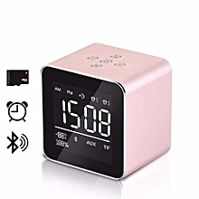 mini desktop bluetooble wireless with alarm clock microphone bt3.0 support micro sd card for phone