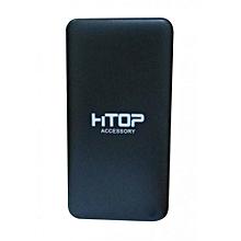powerbank avec cable charge telephone smart et iphone 6000 mah noir