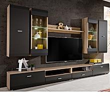 vita meuble tv en bois de chêne - gris