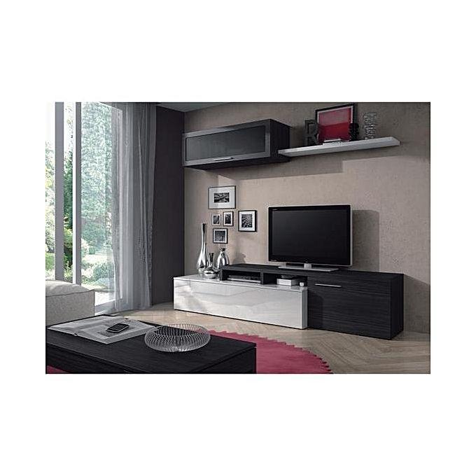 nexus ensemble salon contemporain m lamin blanc brillant. Black Bedroom Furniture Sets. Home Design Ideas