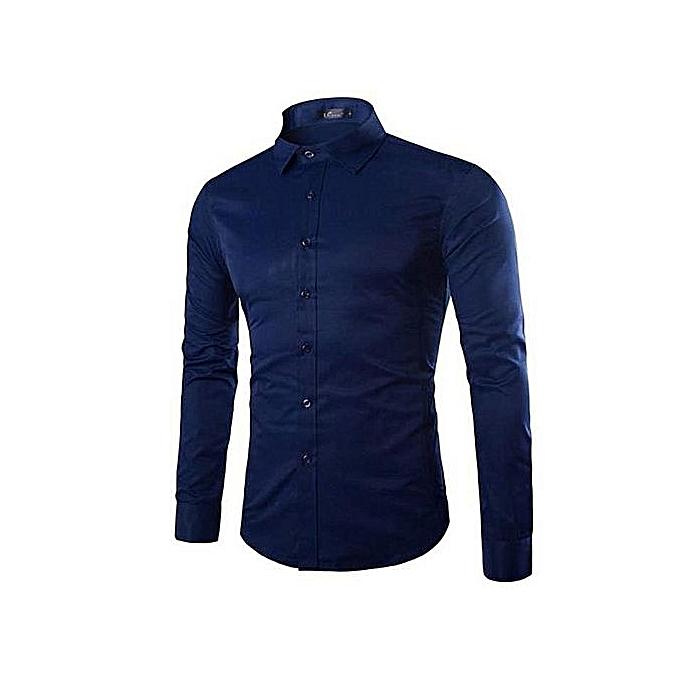 Nuit White Fit Chemise Label Homme Slim De Manches Longues Bleu ZrZzqw