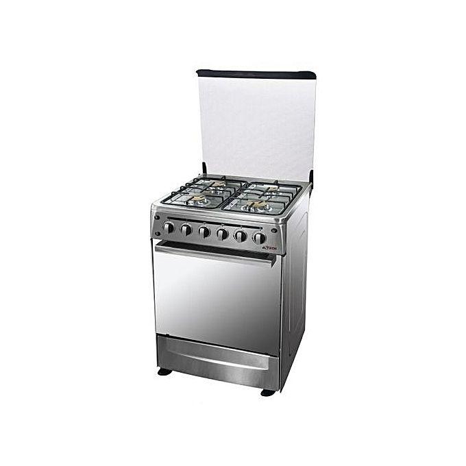 Astech cuisini re 4 feux inox 60 60 acheter en ligne jumia senegal - Cuisiniere 3 feux four electrique ...