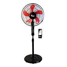 """ventilateur sur pied 16"""" + télécommande - 60 w - noir ( garanti 12 mois)"""