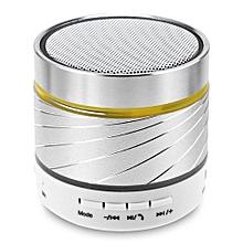 s07u haut-parleur sans fil bluetooth mini haut-parleurs portables avec appel mains libres del pour lecture de carte tf, fonction de lecteur flash usb (argent)