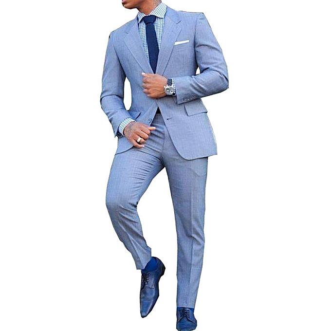 White label ensemble costume bleu ciel de deux pi ces veste pantalon coupe pr s du corps - Magie corps coupe en deux ...