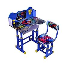 table d'étude pour enfants - bleu