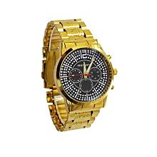 montre bracelet en plaqué pour homme - doré