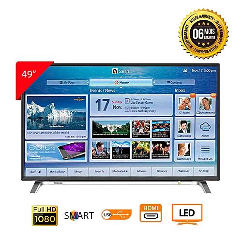 toshiba t l viseur led 49 pouces smart tv full hd 1920x1080 pixels 49l5650ve noir. Black Bedroom Furniture Sets. Home Design Ideas
