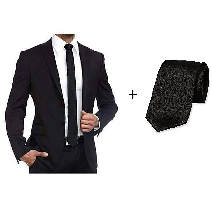 Pack Costume Noir de 2 Pièces (veste + pantalon coupe près du corps) + 78e9f918d0c
