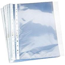 pochettes perforées - ouverture vers le haut - transparent lot de 100